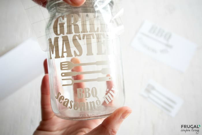 How to Transfer Vinyl to a Mason Jar