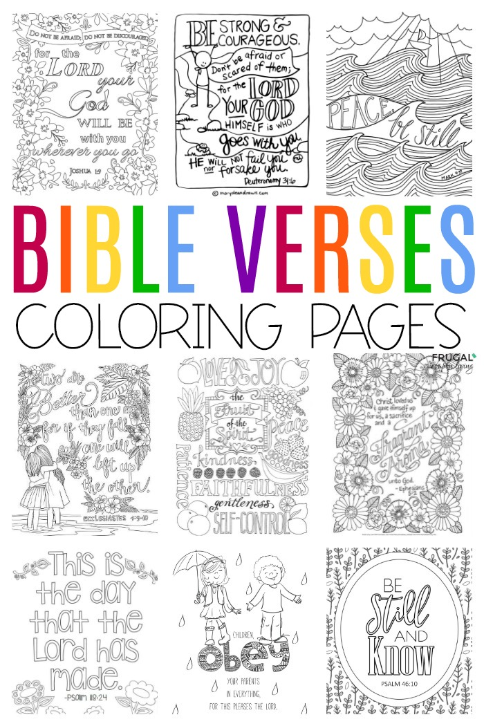 Bible Verse Coloring Pages For Adults, Teens & Toddlers