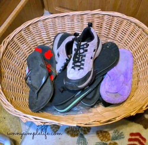 Camping Shoe Organization