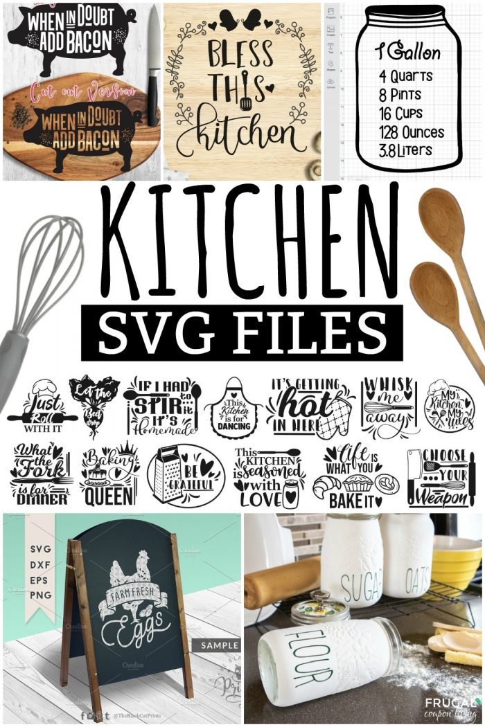 Kitchen SVG Files for Cricut Design Space and Silhouette Cameo