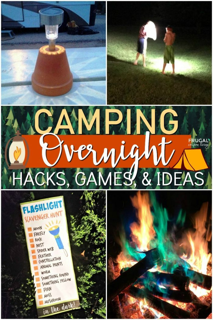 Overnight Camping Ideas for Kids + Printables