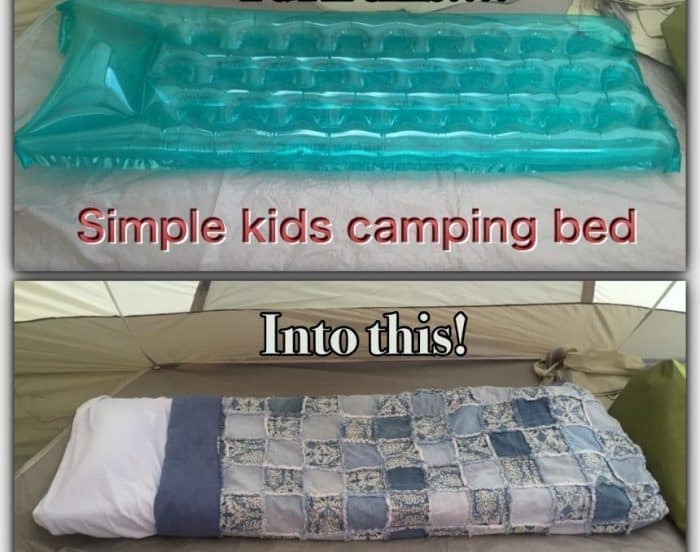 Pool Float Sleeping Bag Hack for Camping