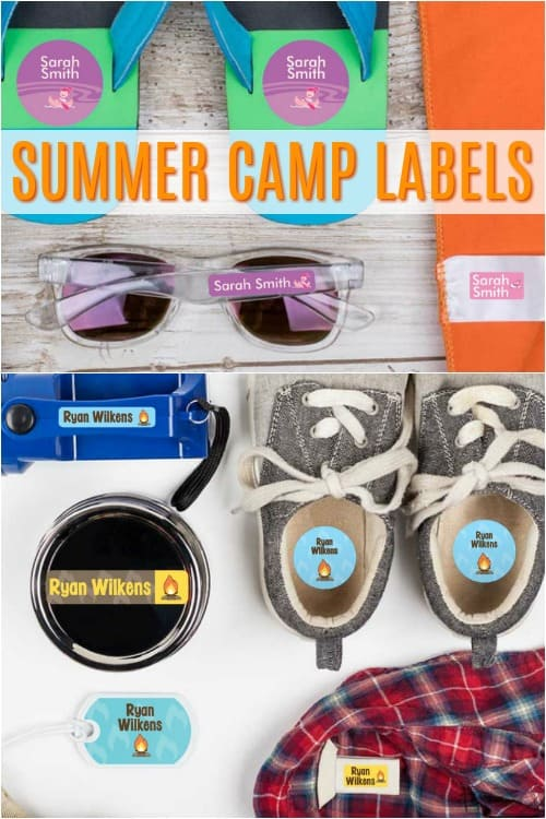 Summer Camp Clothing Labels
