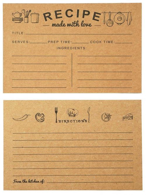 Vintage Family Reunion Recipe Cards