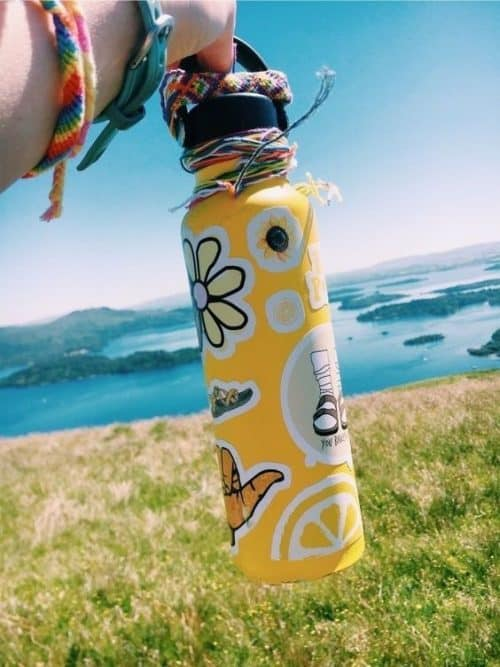 Summer Camp Hydro Flask with Stickers
