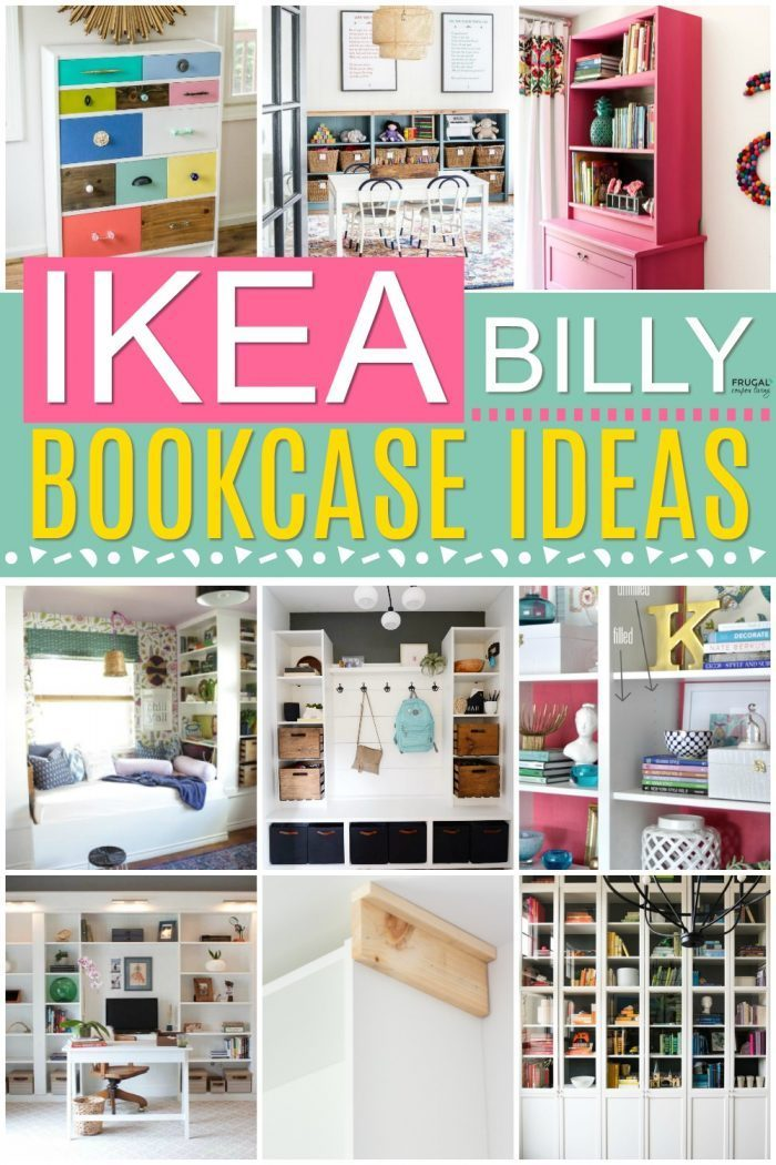 IKEA Billy Bookcase Hacks and Low Cost IKEA Home Decor