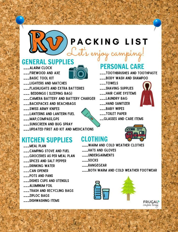 RV Camping Packing List