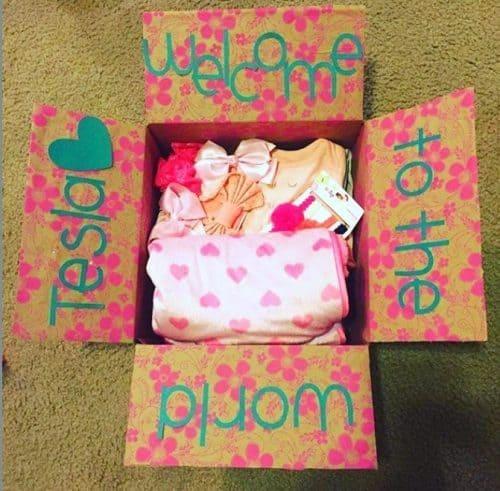 Newborn New Mama Baby Care Package Idea