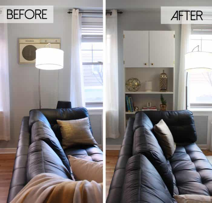 IKEA Billy Bookcase Hack for Small Spaces