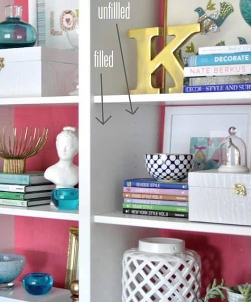 How to Hide IKEA Billy Bookcases Shelf Holes