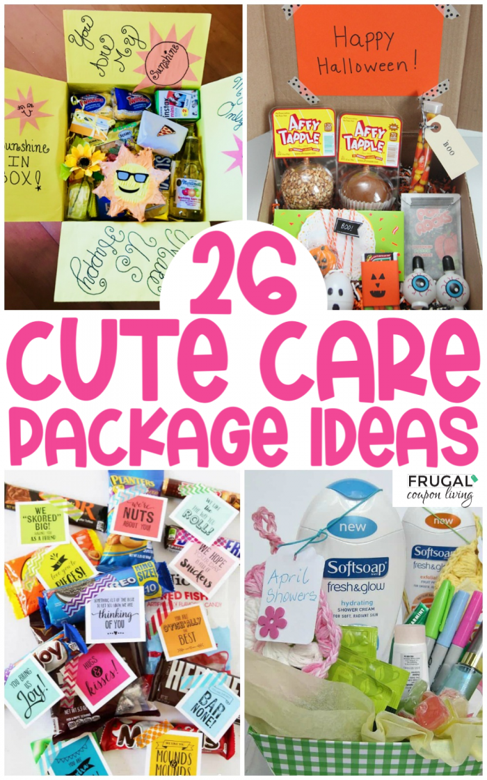 care package ideas - gifts by mail