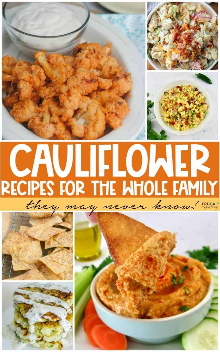 Low-Carb Family Favorite Cauliflower Recipes Ideas