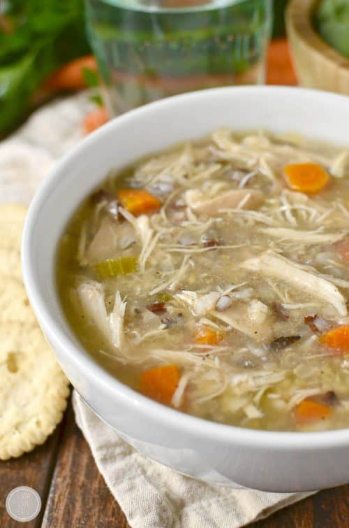 Crock Pot Wild Rice and Chicken Soup