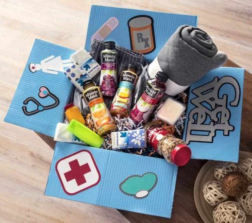 Get Well care package for someone sick