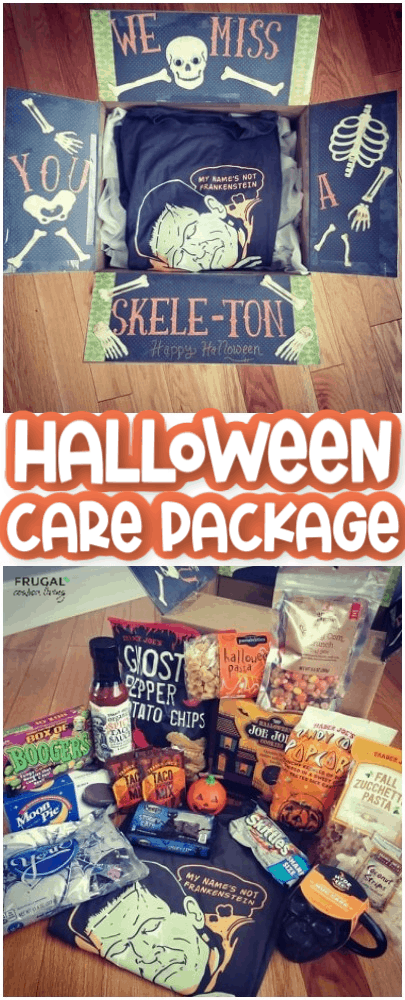 Halloween care package for October Skeleton Theme