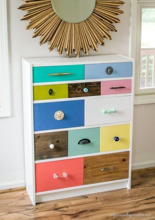 IKEA Billy Bookcase Hack Drawers and Dresser Idea
