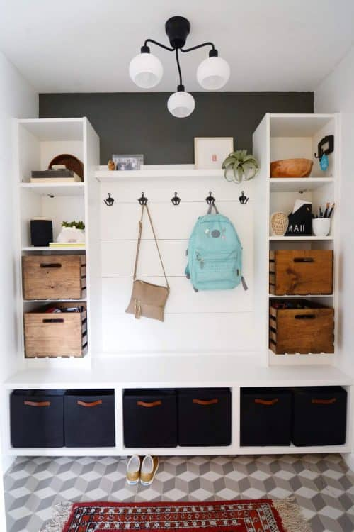 IKEA Billy Bookcase Mudroom Ideas