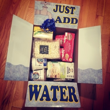 Just add water care package theme