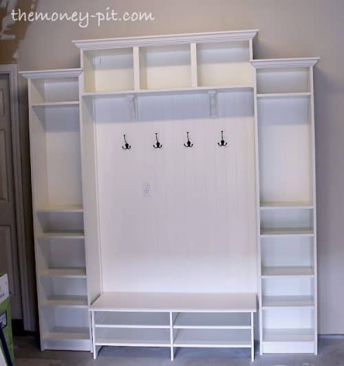 IKEA Billy Bookcase Hack Mudroom
