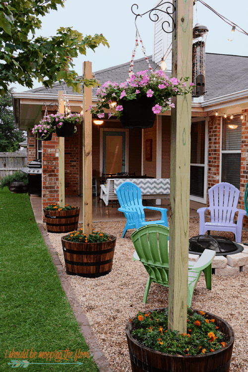 Patio Lighting Ideas in Potted Flowers