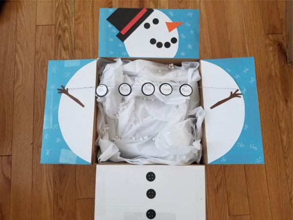 Snow Man care package Idea for Winter