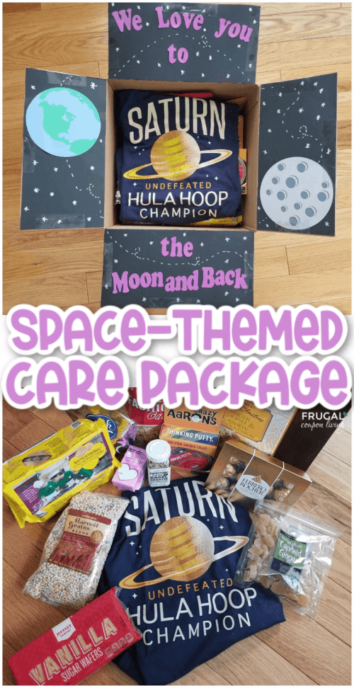 Space Themed care package gift idea