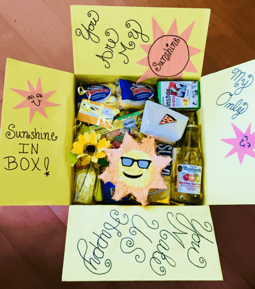 Sunshine care package for Summer