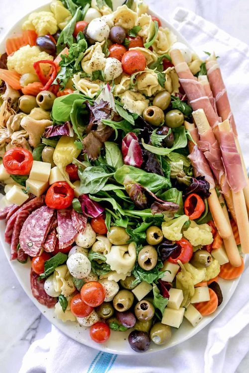 Italian Antipasto Salad Charcuterie Board