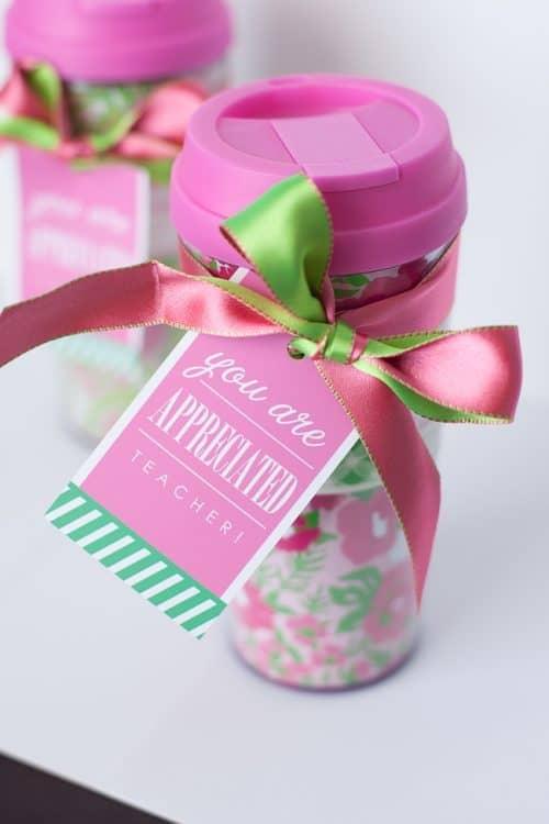you are appreciated teacher appreciation gift idea