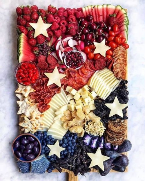 Red White and Blue July Fourth Charcuterie Board Ideas