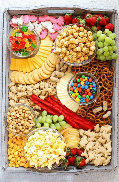 Family Movie or Game Night Snack Board Idea
