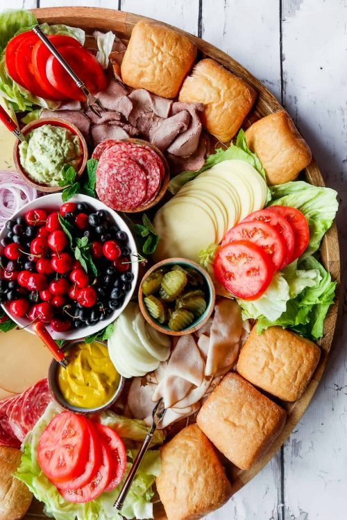 Sandwich Party Board & Charcuterie Board Ideas