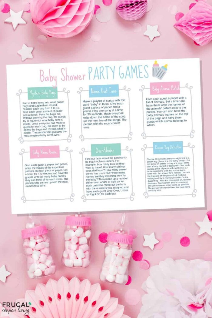 Baby Shower Games Ideas Printable