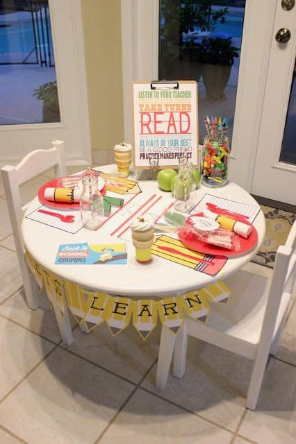 First Day of School Breakfast Table