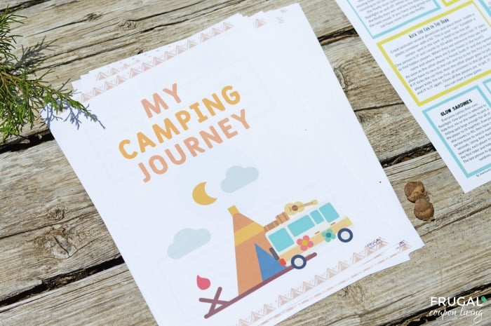Camping Journal Printable and Kids Outdoor Games