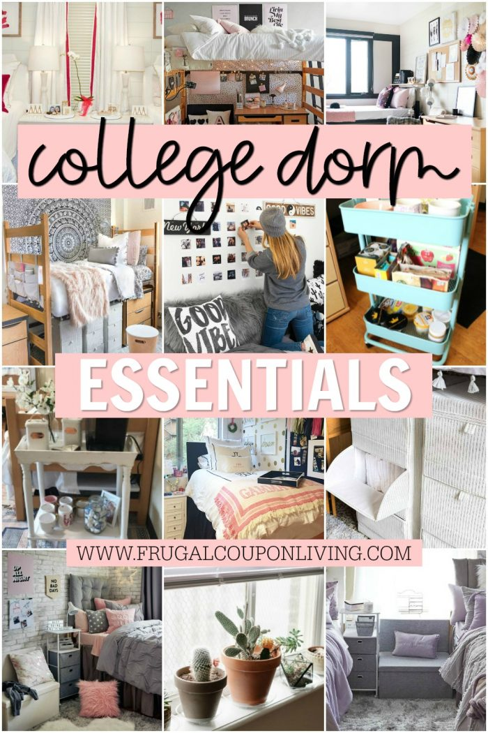 Dorm Room Decorations | College Essential Storage & Organization