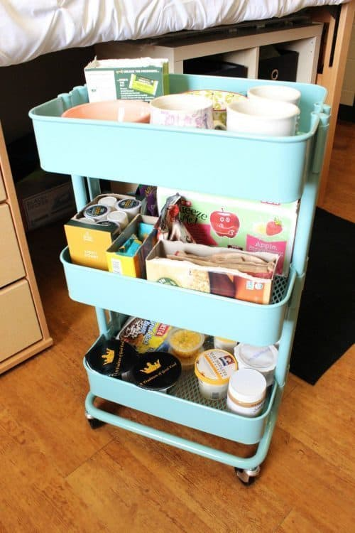 Tiffany Blue Rolling Utility Cart | Dorm Room Storage & Decor