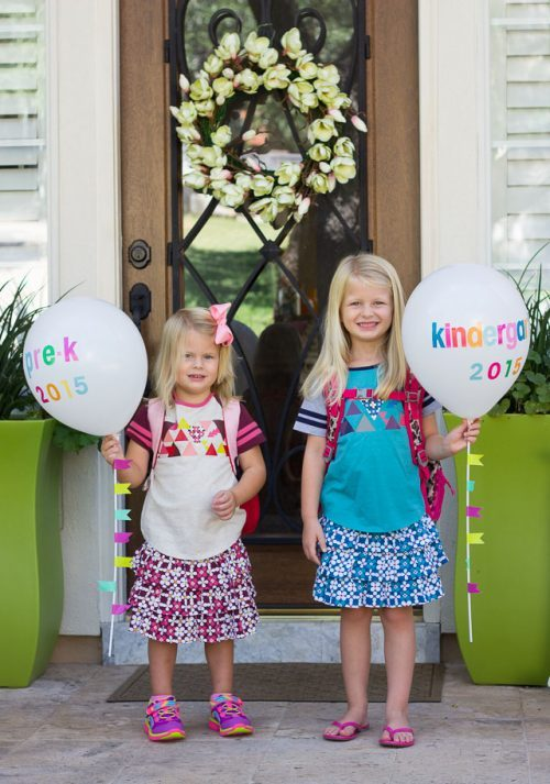 Balloon First Day of School Idea Craft