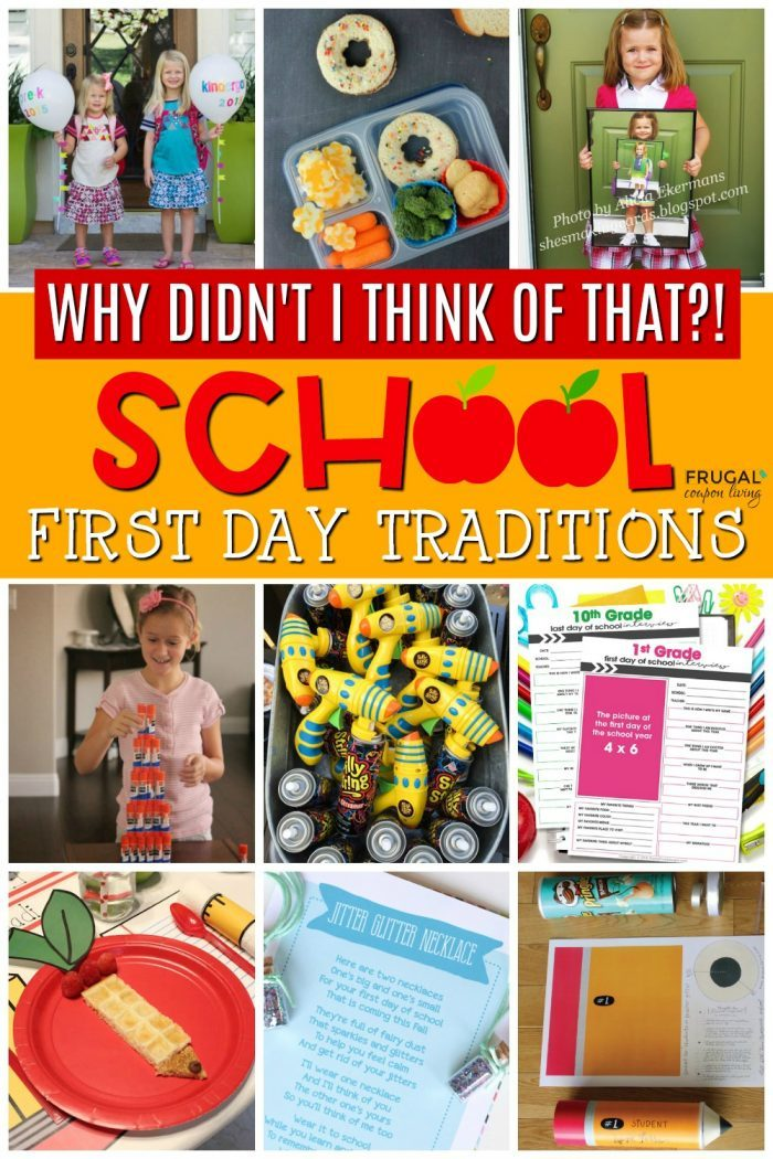 first day of school traditions and back to school ideas and activities