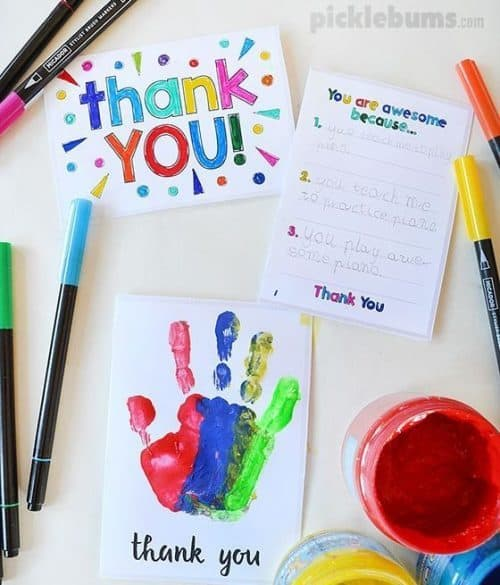 free thank you notes for teachers