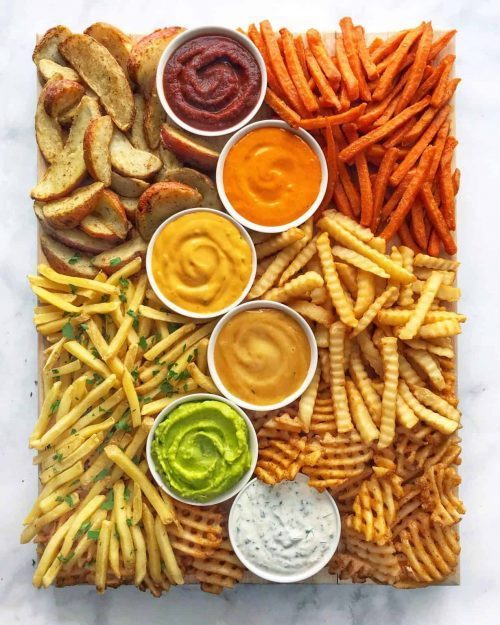 French Fries Party Snack Board