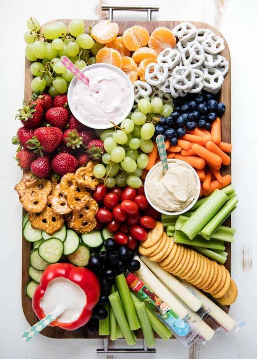 Fruit and Veggie Snack Board for Kids