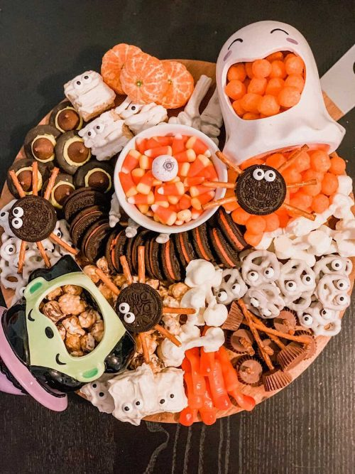 Spooktacular Halloween Snack Board for Halloween Party