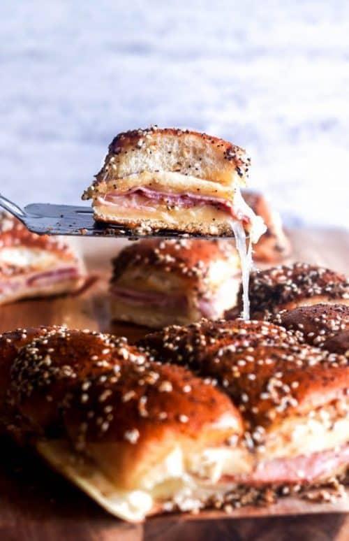 Ham & Cheese Sliders | Thanksgiving Potluck Recipes