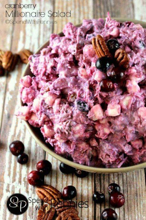 Millionaire Cranberry Salad & Thanksgiving Dinner Recipes