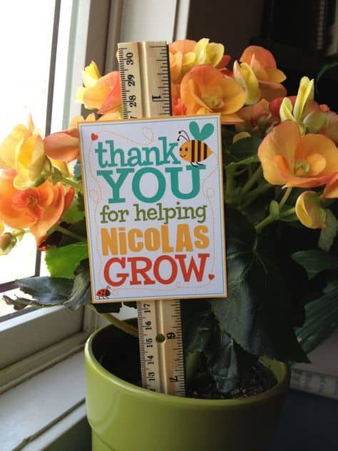 Personalized thank you for helping me grow teacher appreciation