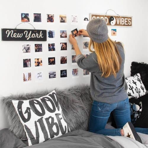 College Dorm Decor Ideas | Peel & Stick Picture Wall