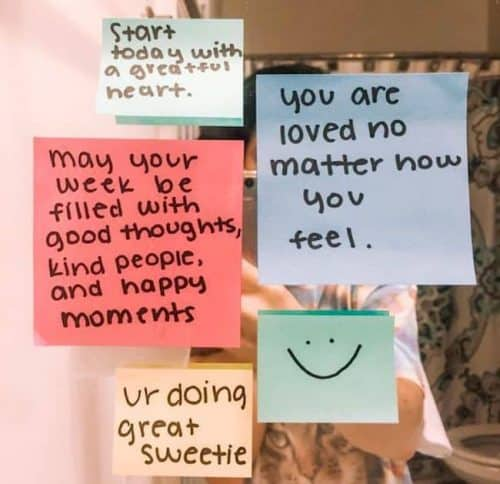 Post It Notes Positive Words of Affirmation