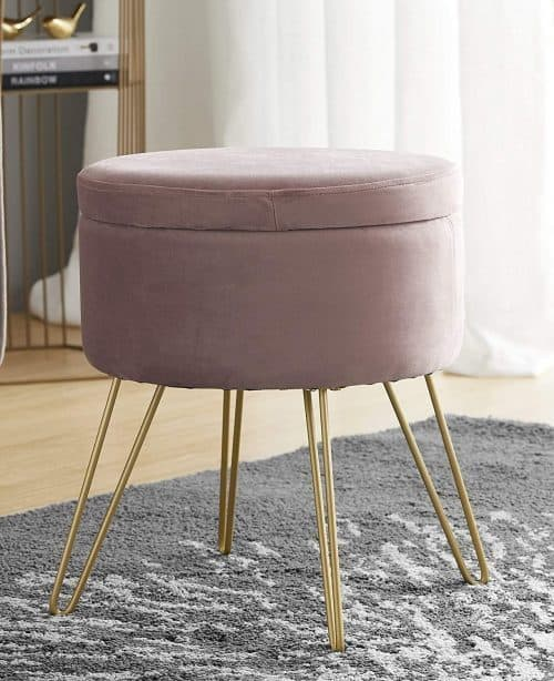 College Dorm Room Decor Ideas | Storage Ottoman