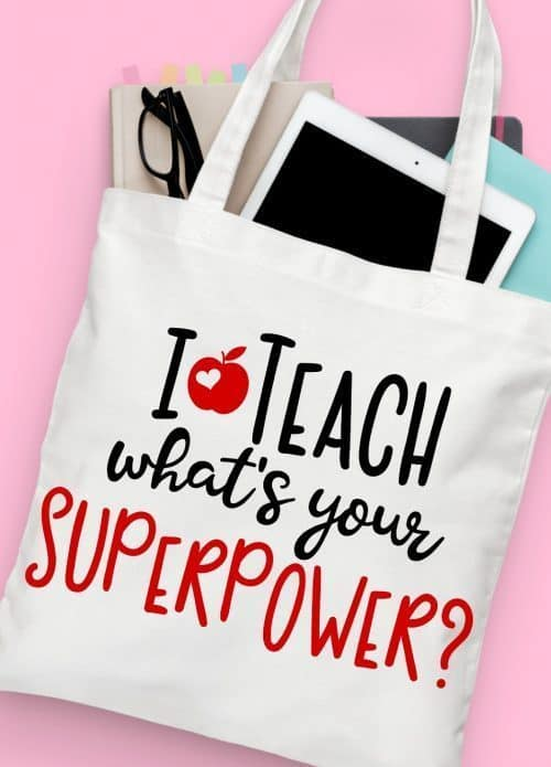i teach what's your super power teacher appreciation free svg file